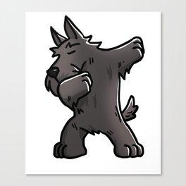 Funny Dabbing Scottish Terrier Dog Dab Dance Canvas Print