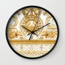 Versailles Golden Gates Wall Clock