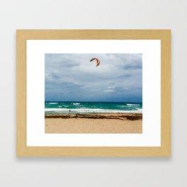 Kitesurfer, Jupiter Beach Framed Art Print