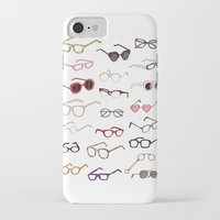 glasses iPhone & iPod Cases featuring glasses by Janaína Esmeraldo