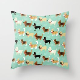 Lets sniff some butts Throw Pillow