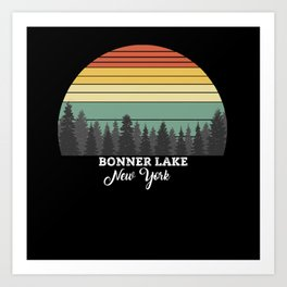 Bonner Lake New York Art Print