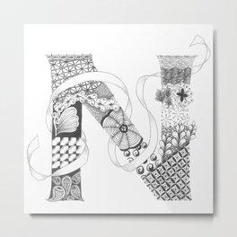 "Zenletter ""N"" Metal Print"