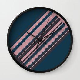 Rose stripes Wall Clock