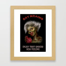 Eat Brains Framed Art Print