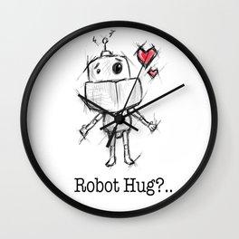 Little Robot Hug Anyone? Wall Clock