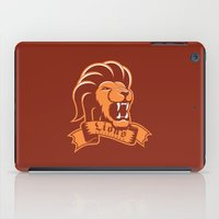 gryffindor iPad Cases featuring Lions Gryffindor by Fresco Umbiatore