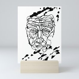 Abstract Ink Face Mini Art Print