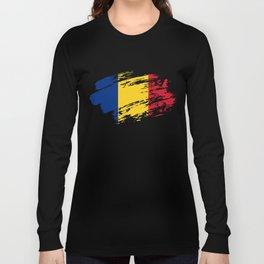 Romania Flag Tee Shirt Long Sleeve T-shirt