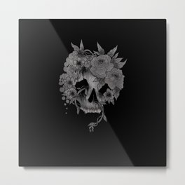 Fruit n Skull Metal Print