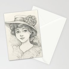 Sketch of an Edwardian Lady Stationery Cards