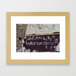 postcard from giltspurt street... Framed Art Print