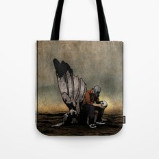 The Angel And The Skull Tote Bag