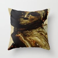 vogue Throw Pillows featuring Vogue by Michelle Silsbee