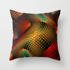 Bed of Snakes Throw Pillow