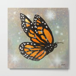Glowing Butterfly Metal Print