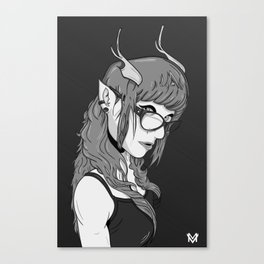 A Beautiful Elf B&W Canvas Print