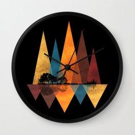 Nature Guitar - Triangles I Wall Clock