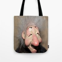 elf Tote Bags featuring elf by  Agostino Lo Coco