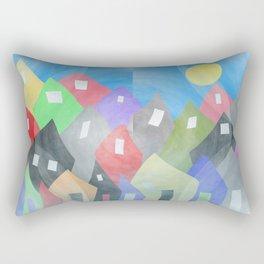 Whimsical Town Rectangular Pillow
