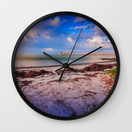 City Pier on Anna Maria Island Wall Clock