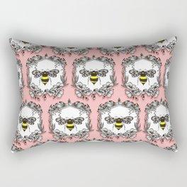 Be the Queen Bee! - Ornamental Line Art Rectangular Pillow