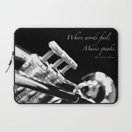 Music Speaks Laptop Sleeve