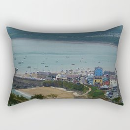 Looking down on New Quay (Wales) Rectangular Pillow