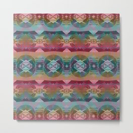 Mauve and Indigo Southwestern Tribal Boho Metal Print