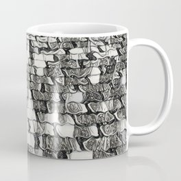 Black and White Escher-esque Cobblestones Coffee Mug