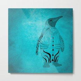 pinguin blue Metal Print