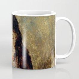 "John Everett Millais ""Florence 'Pobby' Thomas, kneeling and holding a posy of flowers"" Coffee Mug"