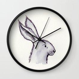 Portrait of Mr Rabbit Wall Clock