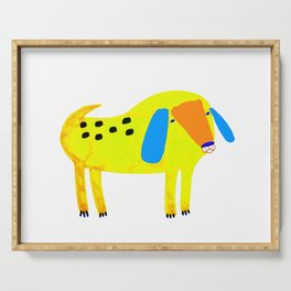 Yellow Spotted Dog Serving Tray