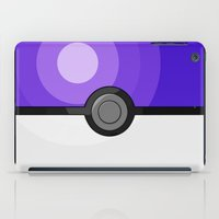 pokeball iPad Cases featuring Purple Pokeball by Amandazzling
