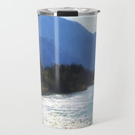 Peace In The Valley - Landscape Art Travel Mug