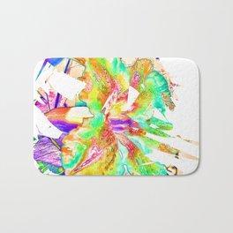 Abstract Flower Brush Bath Mat