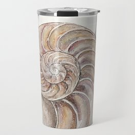 Gifts of the Sea // Seashell Shell Ocean Sea Beach Coast Water Bath Spiral Sacred Geometry Travel Mug