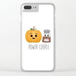 Pumpkin + Spice = Power Couple Clear iPhone Case