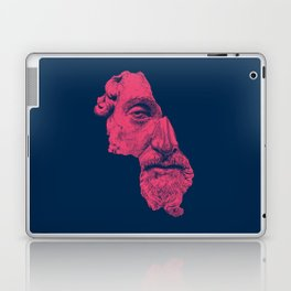 MARCUS AURELIUS ANTONINUS AUGUSTUS / prussian blue / vivid red Laptop & iPad Skin