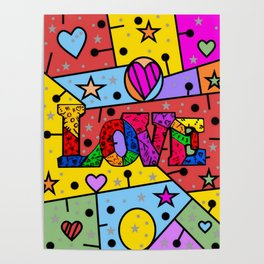 Love Popart by Nico Bielow Poster