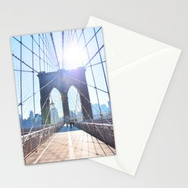 303. Sunny Brooklyn Bridge, New York Stationery Cards