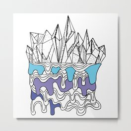 Melty Crystals Metal Print
