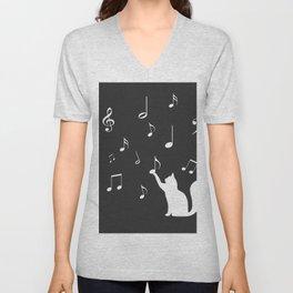 Cat music Unisex V-Neck