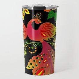Fairy tale khokhloma bird Travel Mug