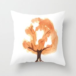 Tree. watercolor picture Throw Pillow