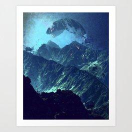 Dark mountains Art Print