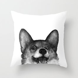 Corgi Throw Pillow