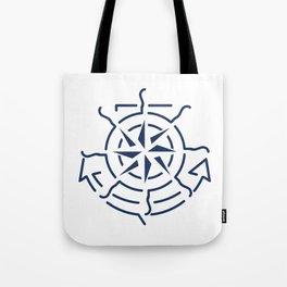 Nautical minimal lineart symbols combination Tote Bag