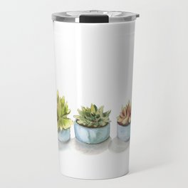 Succulents watercolor painting Travel Mug